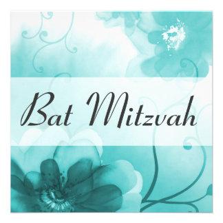 Cerulean Blue Bat Mitzvah Invitation