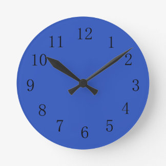 Cerulean Blue Color Kitchen Wall Clock