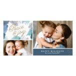 Cerulean Holiday Photo Card