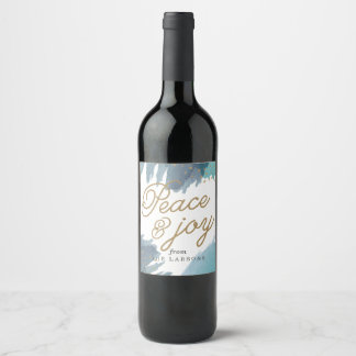 Cerulean Holiday Wine Label