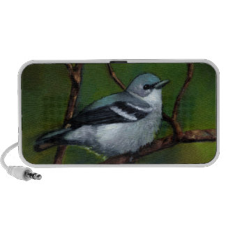 Cerulean Warbler in Oil Pastel Notebook Speaker