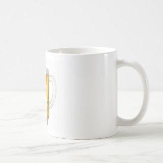 cerveza classic white coffee mug