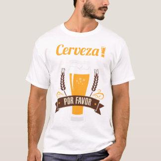 Cerveza Por Favor Beer Funny Drinking T-Shirt