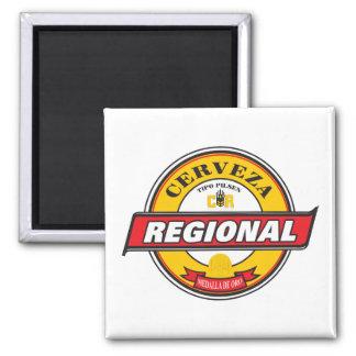 Cerveza Regional Square Magnet