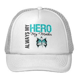 Cervical Cancer Always My Hero My Mother Mesh Hats