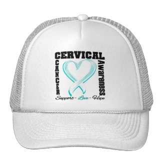 Cervical Cancer Awareness Brushed Heart Ribbon Cap