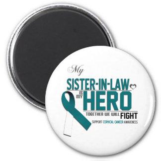 Cervical Cancer Awareness: Sister in Law 6 Cm Round Magnet