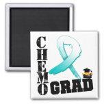 Cervical Cancer Chemo Grad Square Magnet