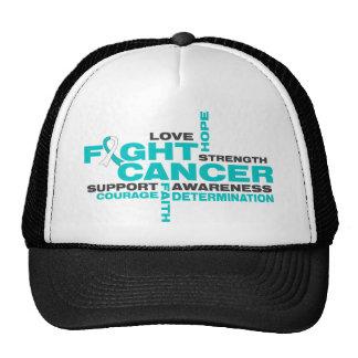 Cervical Cancer Fight Collage Cap