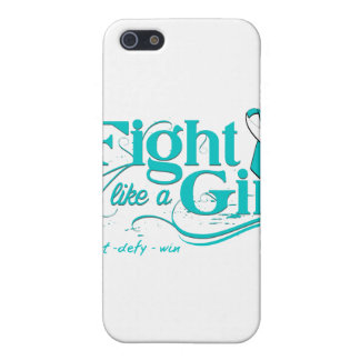Cervical Cancer Fight Like A Girl Elegant iPhone 5 Covers