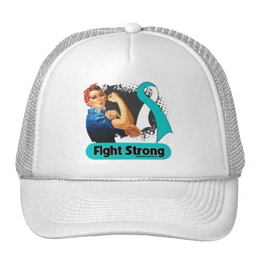 Cervical Cancer Fight Strong Rosie Riveter Trucker Hats