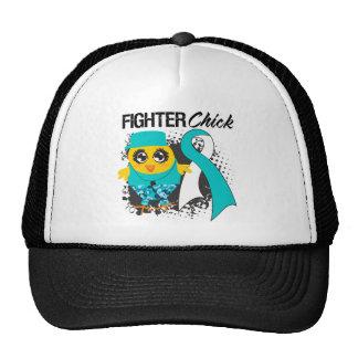 Cervical Cancer Fighter Chick Grunge Hat