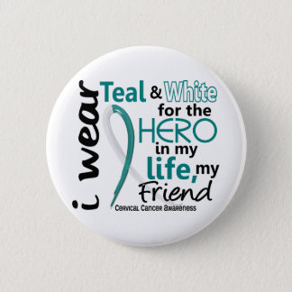 Cervical Cancer For My Hero My Friend 2 6 Cm Round Badge