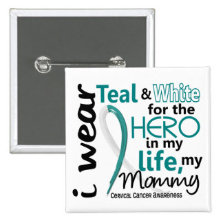 Cervical Cancer For My Hero My Mommy 2 15 Cm Square Badge