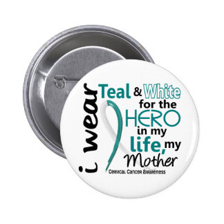 Cervical Cancer For My Hero My Mother 2 6 Cm Round Badge