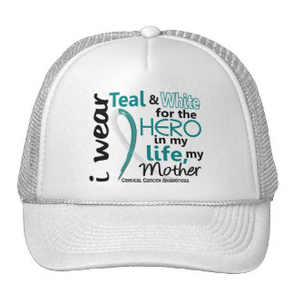 Cervical Cancer For My Hero My Mother 2 Trucker Hat