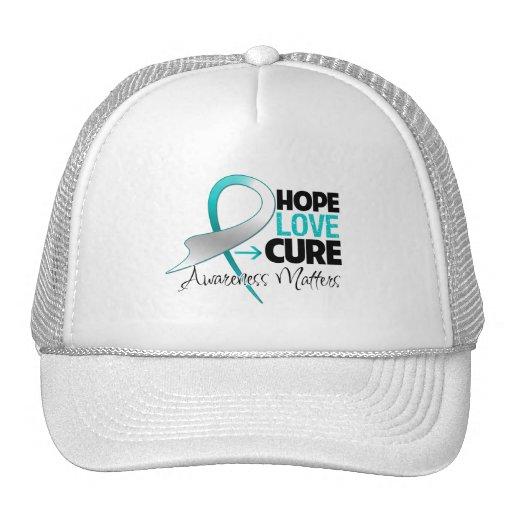 Cervical Cancer Hope Love Cure Mesh Hat