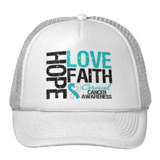 Cervical Cancer Hope Love Faith Trucker Hat