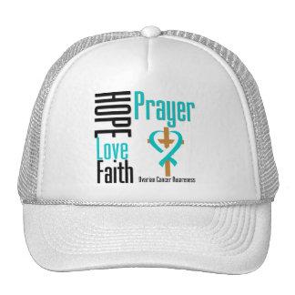 Cervical Cancer Hope Love Faith Prayer Cross Trucker Hat
