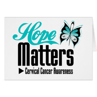 Cervical Cancer HOPE MATTERS Greeting Card
