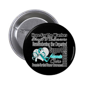 Cervical Cancer Hope Tribute Collage 6 Cm Round Badge