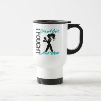 Cervical Cancer I Fought Like A Girl and Won Coffee Mugs