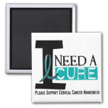 Cervical Cancer I NEED A CURE 1 Refrigerator Magnets