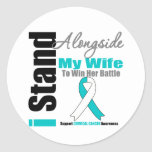 Cervical Cancer I Stand Alongside My Wife Sticker