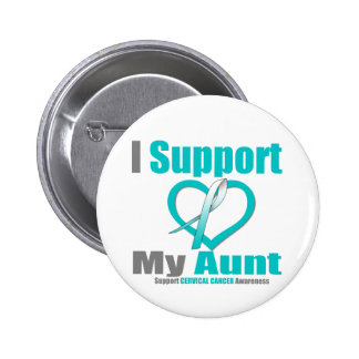 Cervical Cancer I Support My Aunt Pinback Button
