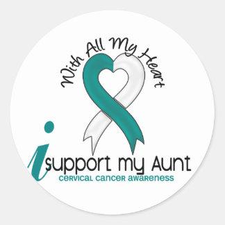 Cervical Cancer I Support My Aunt Round Sticker