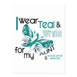 CERVICAL CANCER I Wear Teal and White For My Aunt