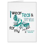 CERVICAL CANCER I Wear Teal and White For My Aunt Cards
