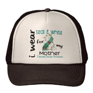 Cervical Cancer I Wear Teal White For My Mother Mesh Hats