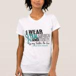 CERVICAL CANCER I Wear Teal White Sister-In-Law 10