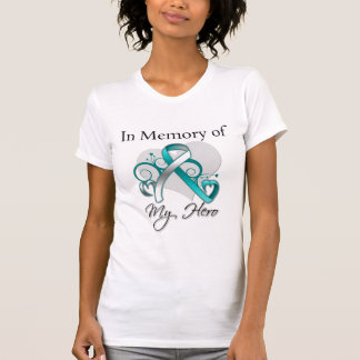 Cervical Cancer In Memory of My Hero T-shirts