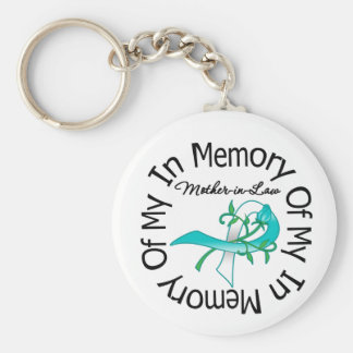 Cervical Cancer In Memory of My Mother-in-Law Basic Round Button Key Ring
