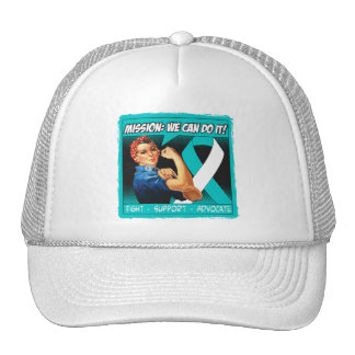 Cervical Cancer Mission We Can Do It Trucker Hat