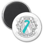 Cervical Cancer Never Giving Up Hope Fridge Magnet