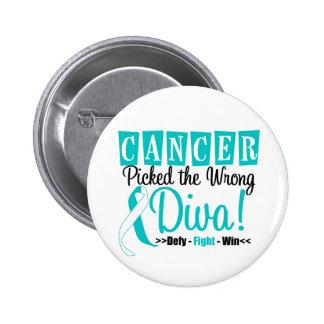 Cervical Cancer Picked The Wrong Diva v2 6 Cm Round Badge