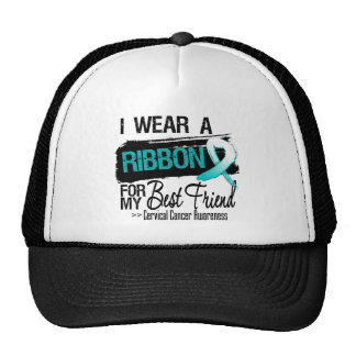 Cervical Cancer Ribbon For My Best Friend Mesh Hats