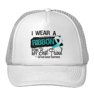 Cervical Cancer Ribbon For My Best Friend Trucker Hats