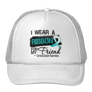 Cervical Cancer Ribbon For My Friend Hats