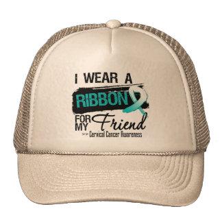 Cervical Cancer Ribbon For My Friend Mesh Hat