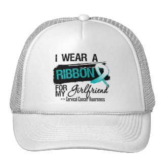 Cervical Cancer Ribbon For My Girlfriend Mesh Hat