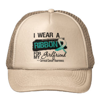 Cervical Cancer Ribbon For My Girlfriend Hat