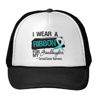 Cervical Cancer Ribbon For My Granddaughter Hats