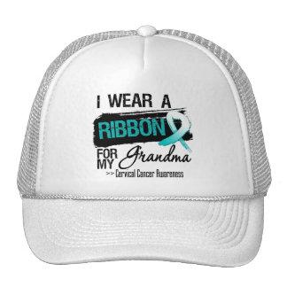 Cervical Cancer Ribbon For My Grandma Mesh Hat