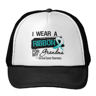 Cervical Cancer Ribbon For My Grandma Hats