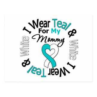 Cervical Cancer Ribbon For My Mommy Postcard