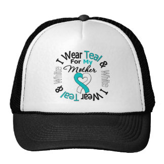 Cervical Cancer Ribbon For My Mother Mesh Hats